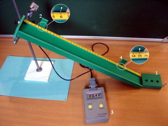 Задача 2. Ученик собрал электрическую цепь, состоящую из батарейки (1), реостата (2), ключа (3), амперметра (4)...